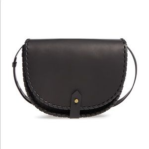 Madewell Whipstitch Saddle Bag in Black